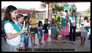 Dedication/Rededication GS ceremony