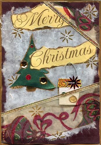 Merry Christmas Collage Greeting Card