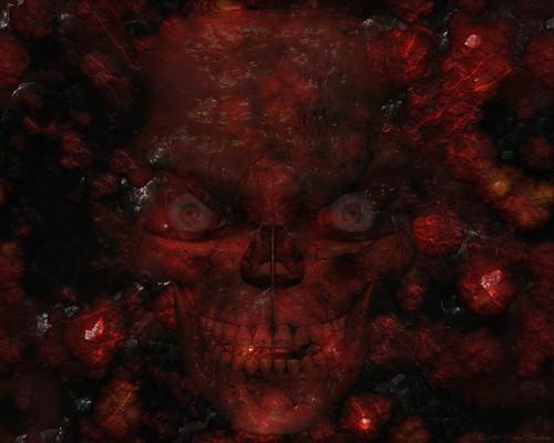 skull wallpapers. Evil Skull Wallpaper