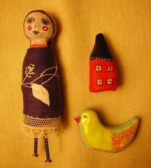 Molly and her Toys Hand-sculpted Folk Art Art Doll (peregrine blue) Tags: sculpture doll folkart artdoll prim primitive