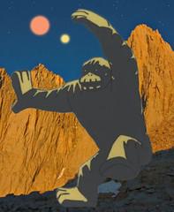 The Herculoids: Igoo the giant rock ape (critter superhero) Tags: photoshop hanna gorilla cartoon 1967 herculoids saturdaymorning barbera quasar