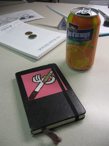 Change, Moleskine, and Orange Juice