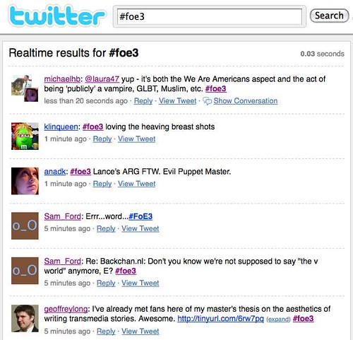 #foe3 - Twitter Search