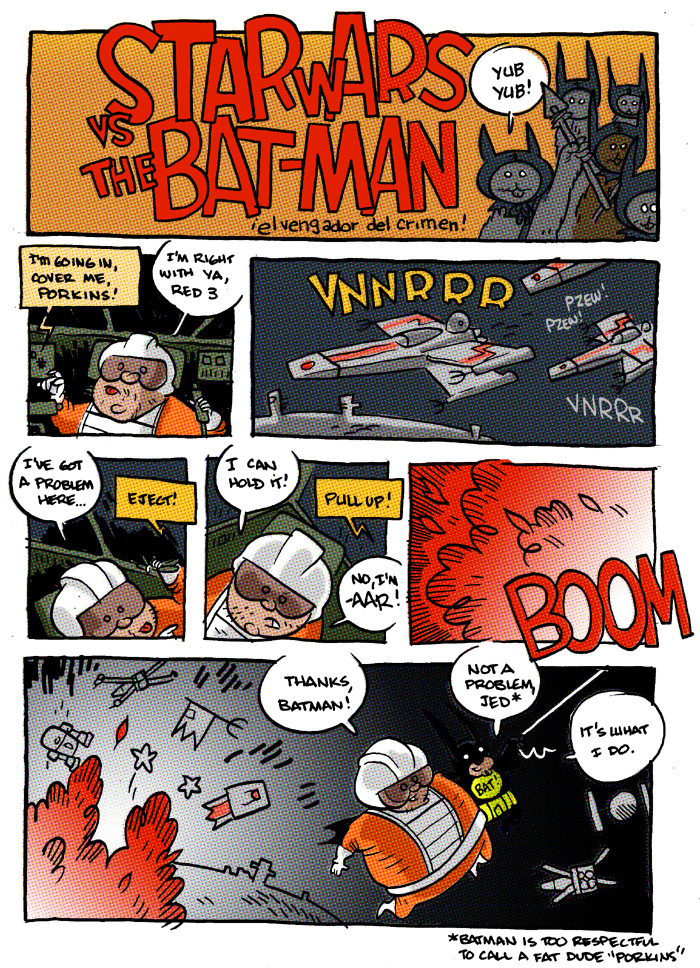 Star Wars versus Batman!