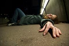 (janbat) Tags: street city bridge light urban woman paris sol nikon women neon dof hand nightshot floor accident lumire femme nail scene tokina pont d200 f4 ladfense 1224 misss jbaudebert vuesdenbas