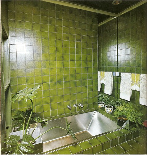 Green bathroom - Faience verte salle de bain ...