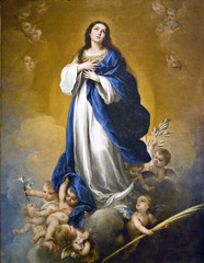 Probably something to do with the Ascension (Tiz_herself) Tags: heaven mary paintings detroit dia angels christianity heavens museums virginmary ascension array immaculateconception detroitinstituteofarts