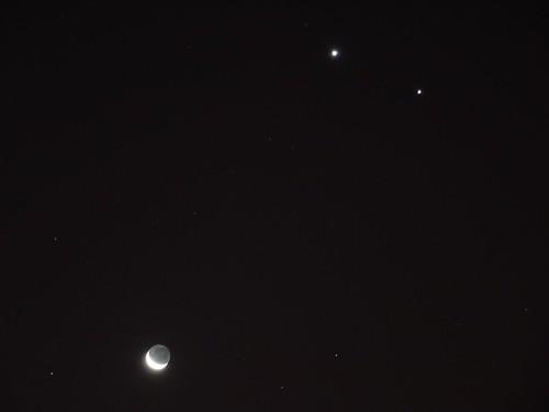Luna, Venus, Júpiter