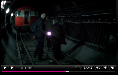 Spooks on the London Underground - BBC Screengrab