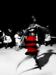 ritual (lilion) Tags: africa light shadow red woman night movement bodylanguage dancer grace explore passion senegal hl thisisart redblack artcafe artlibre lilion visiongroup sonydscn2 infinestyle angyalokkal rubyphotographer reggelitsok copyrightedallrightsreserved jmeszolybeatrix beatrixjourdan