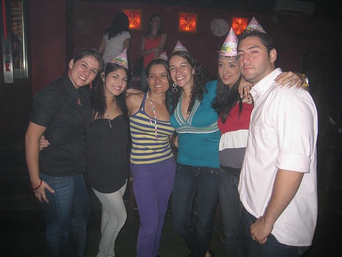 Catalina (2nd from left), Luisa (4th from left), and friends