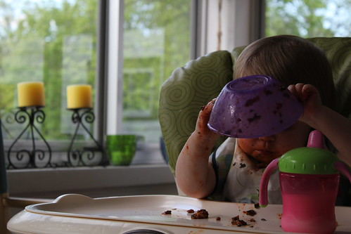 Annie eating her spaghetti