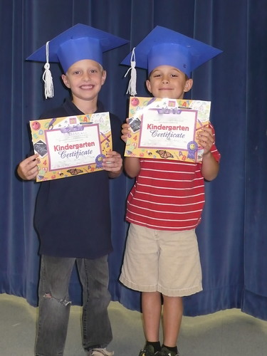 Max and his friend at Kinder graduation