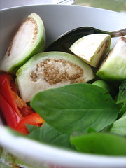 Ingredients for green curry