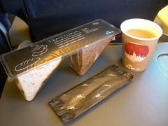 In flight snack, KLM flight KL1784 HAM-AMS