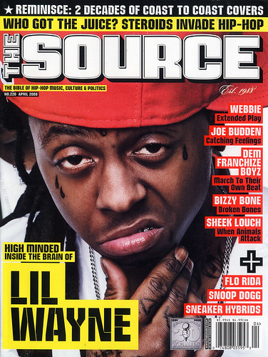 LIL WAYNE THE SOURCE MAGAZINE APRIL 2008 ISSUE