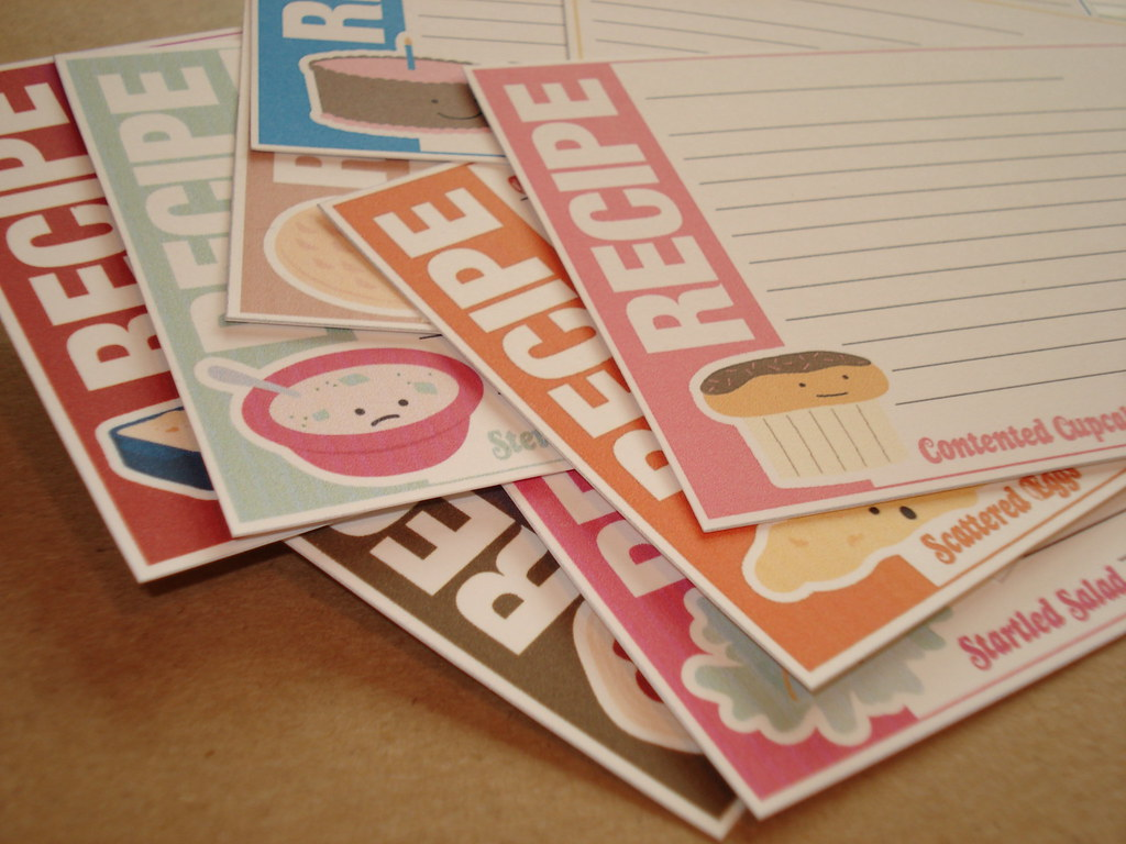 Food Friends recipe cards
