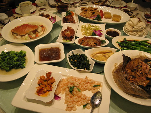 the feast at Lou Wai Lou in Hangzhou