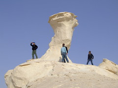 Where are the Guides? (Wandering Ro) Tags: stone landscape chalk tour wind egypt erosion formation monoliths eroded otherworldly whitedesert inselbergs sahraalbeida