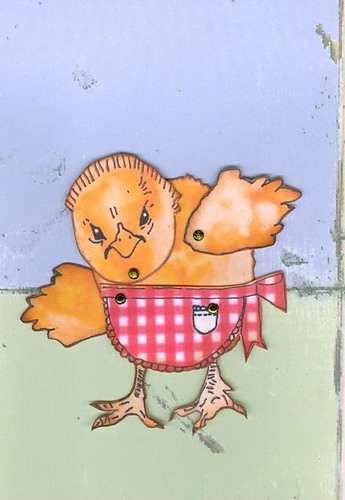 finished chick paper doll