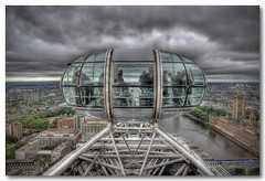 Pod with a view (Roger.C) Tags: england sky house london eye station wheel thames clouds canon river observation pod scenery power view sigma parliament battersea tress hdr bulidings 30d supershot tonemapped 1770mm photomatrix 3exp abigfave