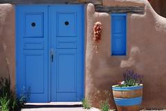 Blue Doors in Ranchos de Taos (fairangels) Tags: blue newmexico 50mm doors taos 50mmf14d d80 nikond80 cianofilia