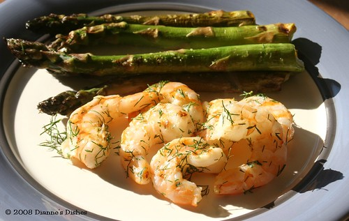 Grilled Dill Shrimp With Asparagus