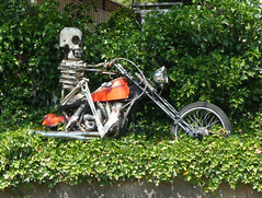 Florence Ave Folk Art -- Motorcycle Skeleton