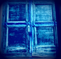 a blue cross door (ziggywiggy1(SHELLIE B.)) Tags: nyc buildings doors manhattan churches experimentation streetscenes clart abigfave trashbit specialeffectsaward top25blue totalphotoshop digifotoproaward sacredimagery clart15062008