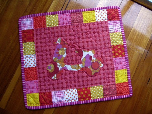 Lemonade Stand Doll Quilt Swap quilt
