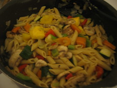 veggie mix tossed with pasta