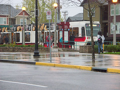 suburbs will need good transit links to survive: here, Orenco Station outside Portland OR (by: George Goodman, creative commons license)