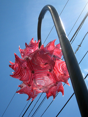 Art glass street light