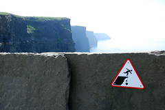 Danger: cliffs
