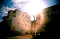 The Apollo (KlaireLee) Tags: sun film sunburst roll1 vivitar kodakgold200