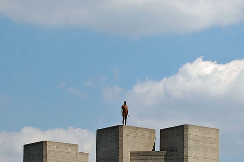 """Antony Gormley: Olympic podium"" by threefishsleeping"