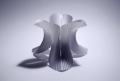 Pleated test model. (Richard Sweeney) Tags: sculpture art paper origami selfridges installation mobius pleated modules pleating richardsweeney