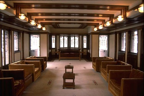 Perfect F5.F.LL.WRIGTH.ROBIE HOUSE.CHICAGO.INTERIOR.