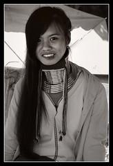"Long neck and long hair (SLpixeLS) Tags: portrait blackandwhite bw girl look thailand asia noiretblanc femme karen thaïlande chiangmai asie fille regard hilltribe warmtone tribu tonschauds earthasia ""flickraward"""