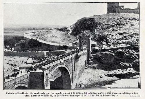 Meeting anticlerical en Toledo, 1910