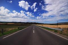 Sempre dritto (Stranju) Tags: sky clouds route66 strada nuvole infinity perspective campagna route cielo infinito prospettiva prospective hihihihi