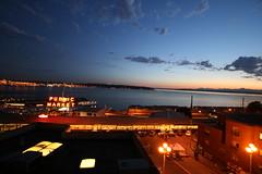 Sunset Over Public Market (mhpien) Tags: seattle digital sunsets publicmarket