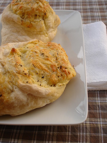 Cheese stuffed crusty rolls