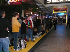 Optus lineup for iphone in Brisbane