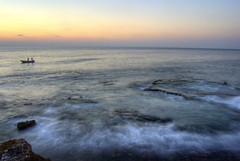 Sea - Lighthouse (A. Saleh) Tags: sunset sea lebanon nature fishing nikon waves d200 beirut soe manara longshutter blueribbon 18mm saleh asaad shieldofexcellence nikon1855mmf35 wwwasaadsalehcom