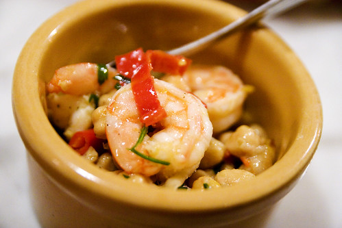 Shrimp, Ceci (chickpeas), Chiles