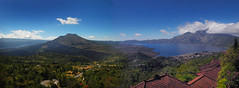 Bali  Panorama of Mt Butur Volcano & Lake Butur (williamcho) Tags: bali lake tourism landscape scenic adventure lakebatur worldwidepanorama kintamani mountbaturvolcano
