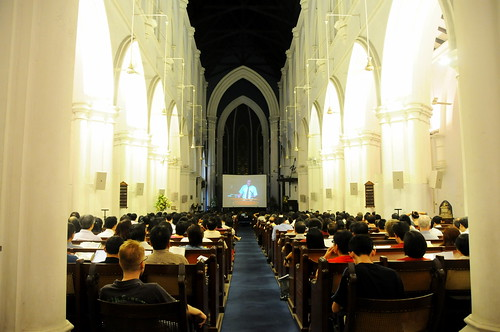 Don Carson at St. Andrew's Cathedral - video link in the Nave
