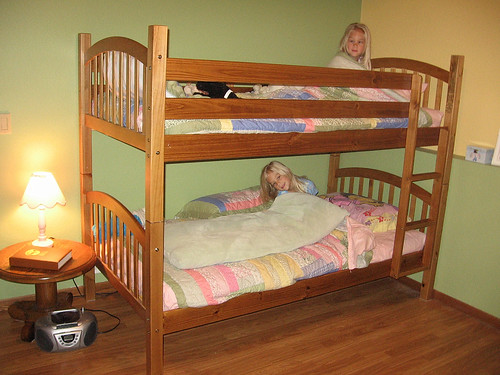 We finally BUNKED the beds!