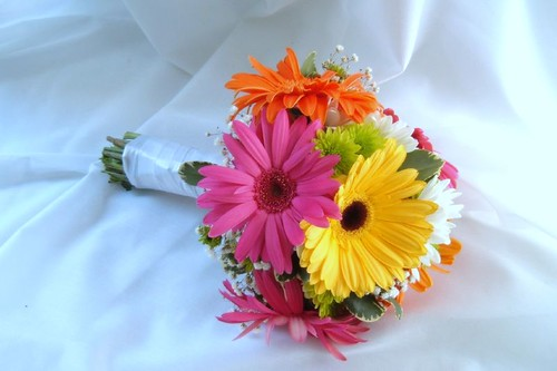 bouquet gerbera daisy colorful by anderson.florist